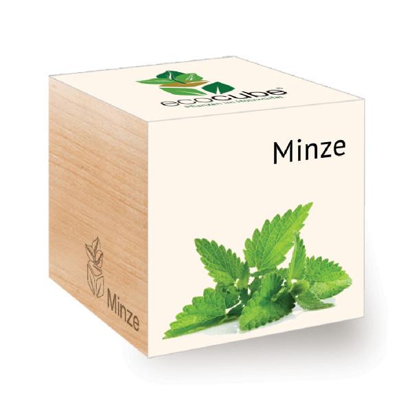 Minze zum selber Züchten - ecocube Holzwürfel - Feel Green