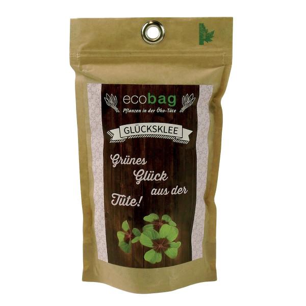 Glücksklee zum Selber züchten - Tüte ecobag von Feel Green.
