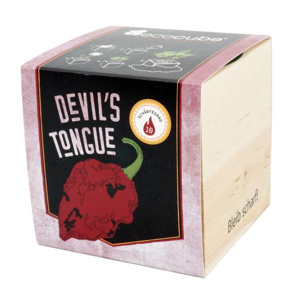 Pflanzwürfel Chili Devils Tongue mit persönlicher Gravur
