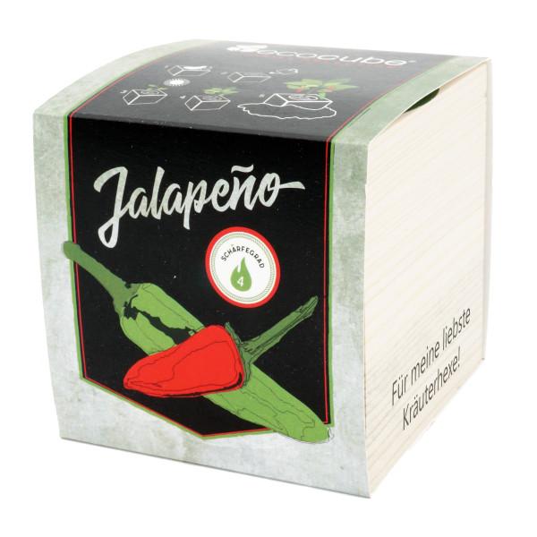 Pflanzwürfel Chili Jalapeño mit persönlicher Gravur