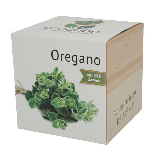 Pflanzwürfel Oregano mit persönlicher Gravur