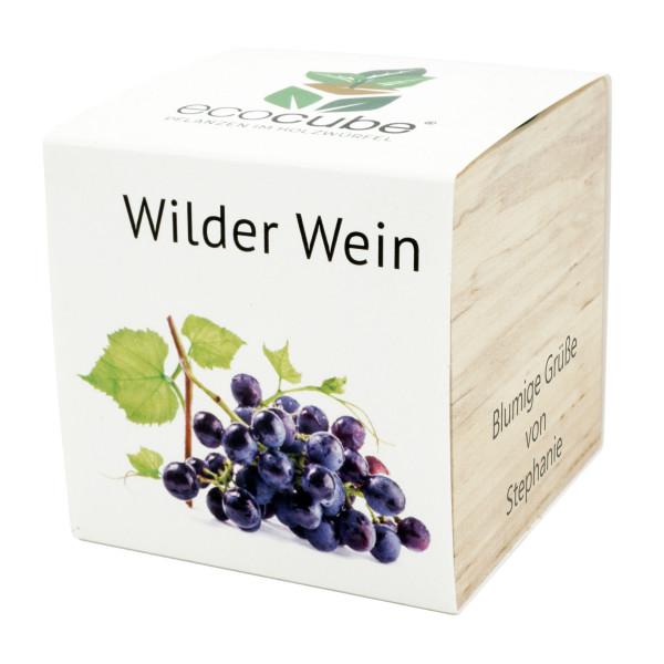 Pflanzwürfel Wilder Wein mit persönlicher Gravur