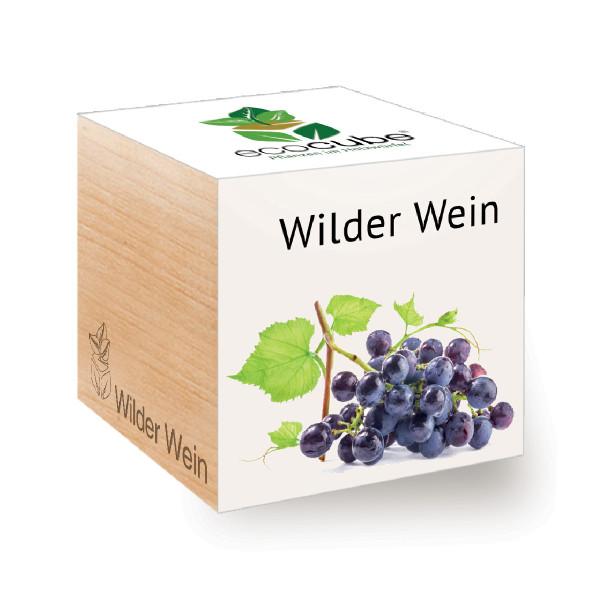 ecocube Holzwürfel mit Samen - Wilder Wein - Feel Green