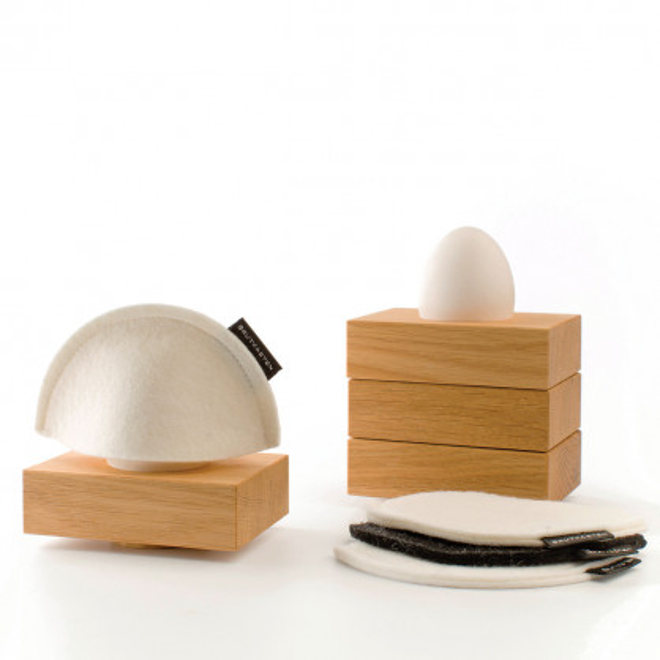 Eierbecher mit Eierwärmern Brutkasten, 4er-Set