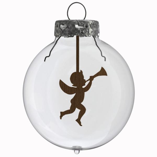 Glaskugel / Weihnachtskugel Engel
