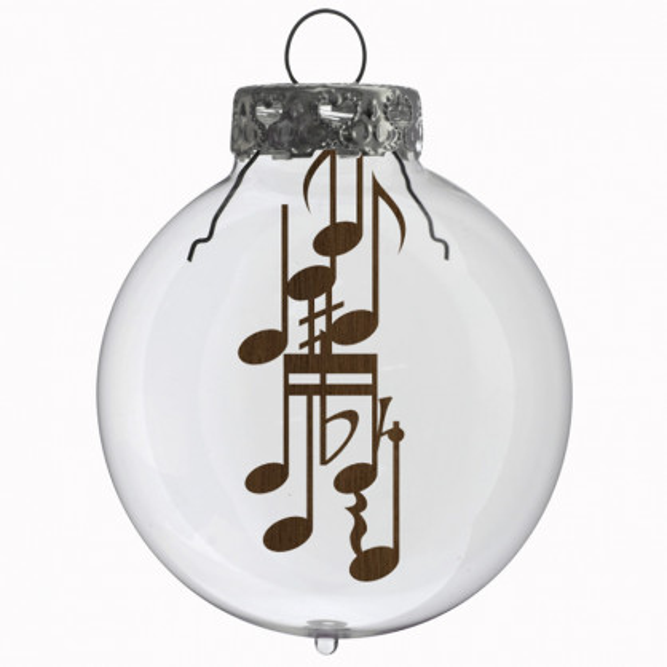 Glaskugel / Weihnachtskugel Noten