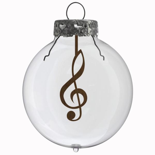 Glaskugel / Weihnachtskugel Notenschlüssel