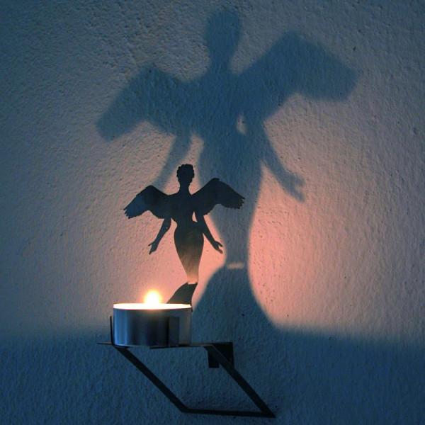 Teelichthalter Wandschatten Engel