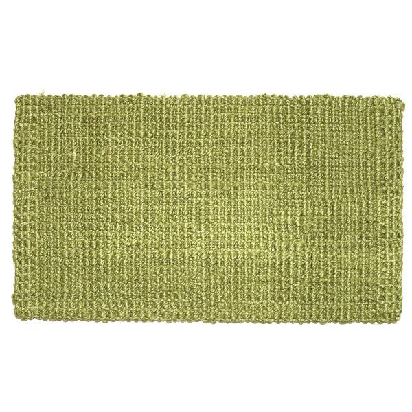 Fußmatte Hampton, Jute Matte grün 90 x 60 cm