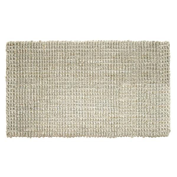 Fußmatte Hampton, Jute Matte hellgrau 75 x 45 cm