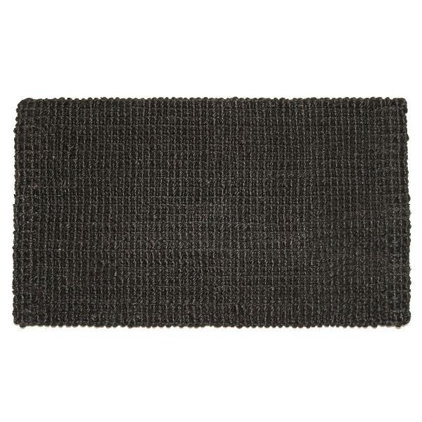 Fußmatte Hampton, Jute Matte schwarz 75 x 45 cm