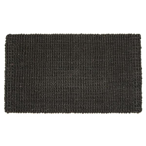 Fußmatte Hampton, Jute Matte schwarz 90 x 60 cm
