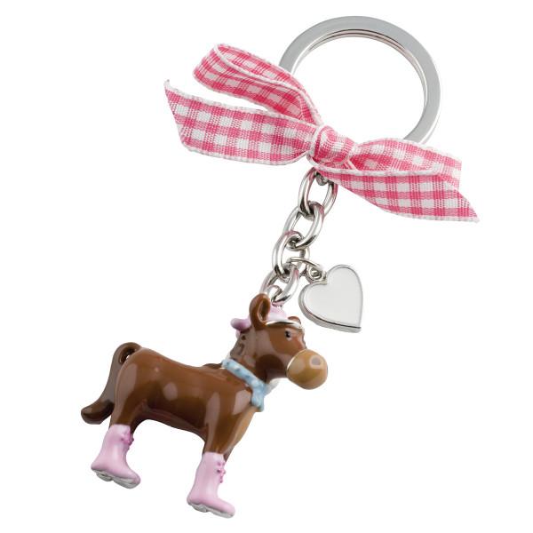 Schlüsselanhänger Pferd, pink