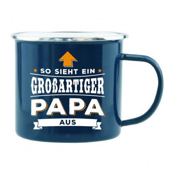 Spruchtasse / Henkeltasse mit Spruch so sieht ein großartiger Papa aus. Geschenk für Papas.