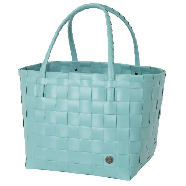 Türkisfarbene Einkaufs- und Strandtasche Shopper Paris S dusty turquoise von Handed By. Fair und sozial produziert!