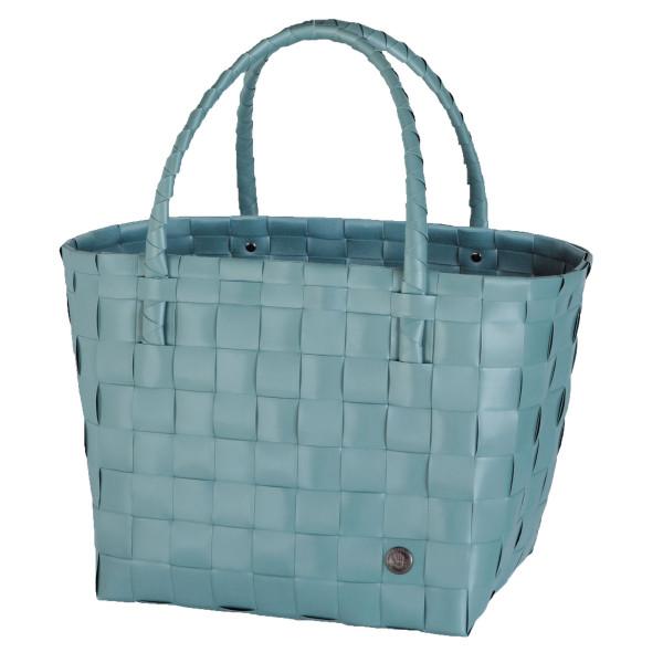 Shopper Paris von Handed By in teal blue (blaugrün). Design Henkeltasche geflochten. Nachhaltig und sozial hergestellt.