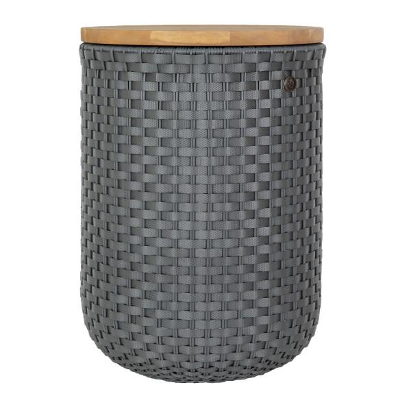 Korb Beistelltisch + Hocker HALO sit, dunkelgrau