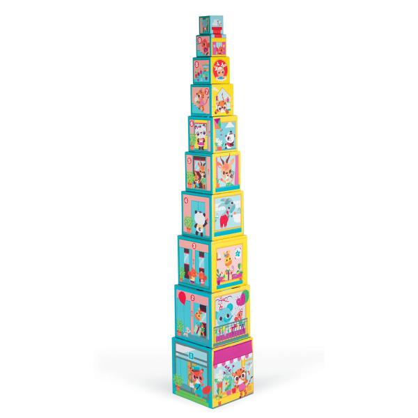 Pyramide zum Stapeln von Janod - Modell City Friends.