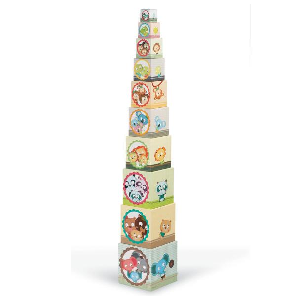 Turm Pyramide stapelbar - Tierfamilie