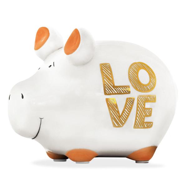 LOVE Sparschwein aus Keramik - KCG Chaoskind - Sonderedition - Goldedition - Keramik Sparschweinchen