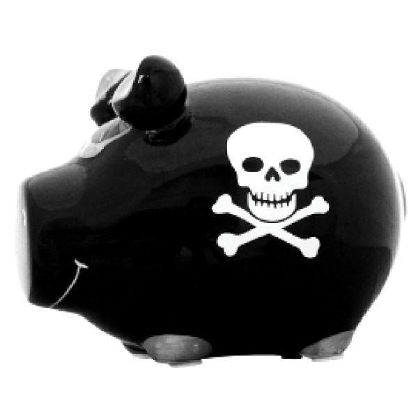Sparschwein Piratenschwein
