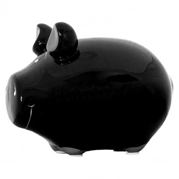 Sparschwein blanko schwarz