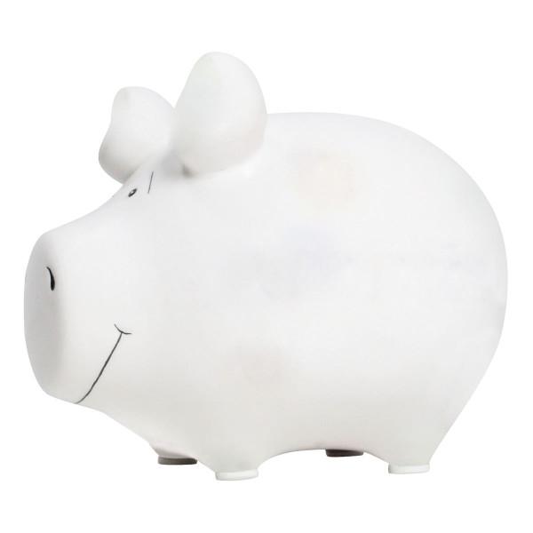 Sparschwein blanko weiß
