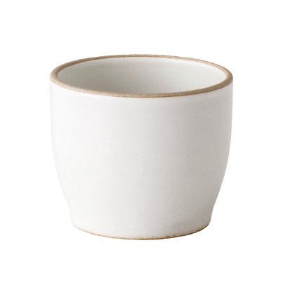 Keramikbecher NORI 200 ml für Sake, Tee oder Kaffee vom japanischen Designhersteller KINTO. Keramikbecher (Steingut-Optik) weiß..