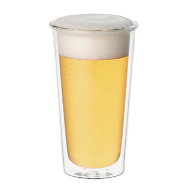 Bierglas / Trinkglas CAST, doppelwandig 340 ml von KINTO.