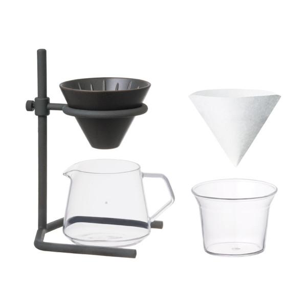 Verspricht perfekten Kaffeegenuss! Das exklusive Kaffeezubereiter Set von KINTO: Modell Brewer Stand Set 2Cups.