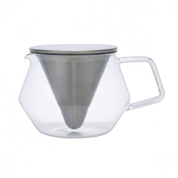 Glaskanne - Teekanne aus Glas - mit Edelstahlfilter - Carat - 600 ml - Kinto