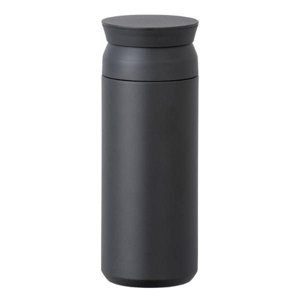Travel Tumbler Thermobecher in schwarz von KINTO Design. Doppelwandiger, BPA-freier Isolierbecher aus Edelstahl.