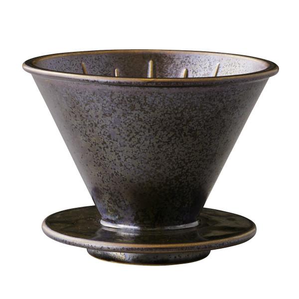 Keramik Trichter 4cups für Filtertüten - von KINTO - Modell black - schwarz metallic