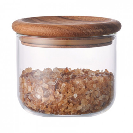 Vorratsglas / Aufbewahrungsglas BAUM mit Holzdeckel aus Akazie, 450 ml - KINTO Design