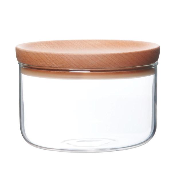 Vorratsglas mit Holzdeckel BAUM, 300 ml