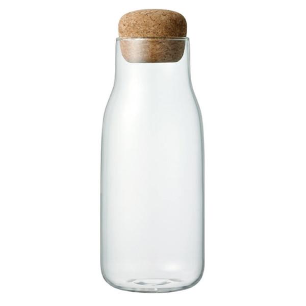 KINTO 600 ml Vorratsglas mit Korkdeckel BOTTLIT. Das Aufbewahrungsglas mit Korkverschluss für Kaffeebohnen, Tee, Kräuter, Gewürze und andere Kleinigkeiten.