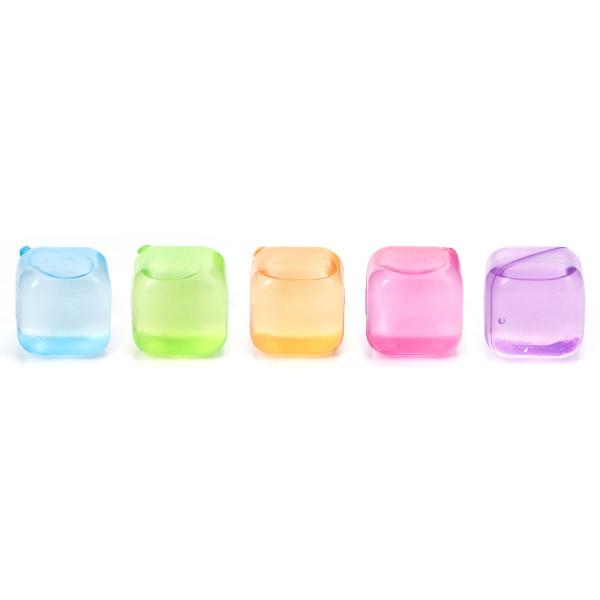 Eiswürfel ICE CUBES - Kunststoff bunt, wiederverwendbar, 30 Stück