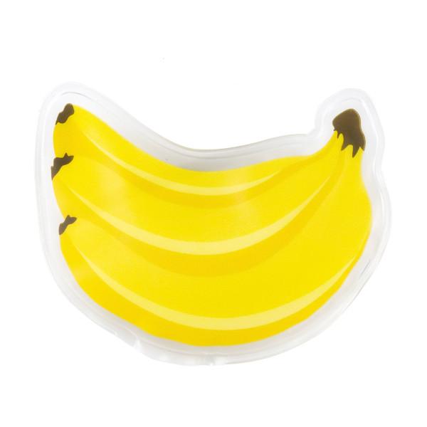 Das Gelpad Banane von Kikkerland hilft bei kleinen Blessuren, wärmt Hände oder kühlt Speisen in der Kinderlunchbox.