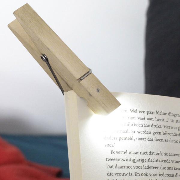 Klammernlicht / Clothespin Clip Light Wood