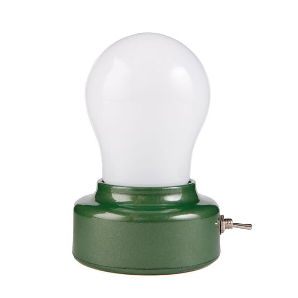 Batteriebetriebene Glühbirnen-Lampe BULB LIGHT mit LED-Leuchtmittel und einfachem Ein-/Ausschalter von Kikkerland Design.