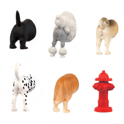 Magnete - Dog Butts Magnets 6er-Set