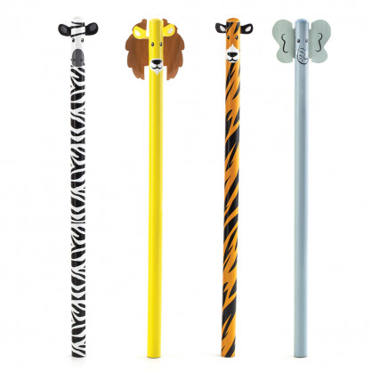 Safari Animal Stifte 4er Set - Tierstifte