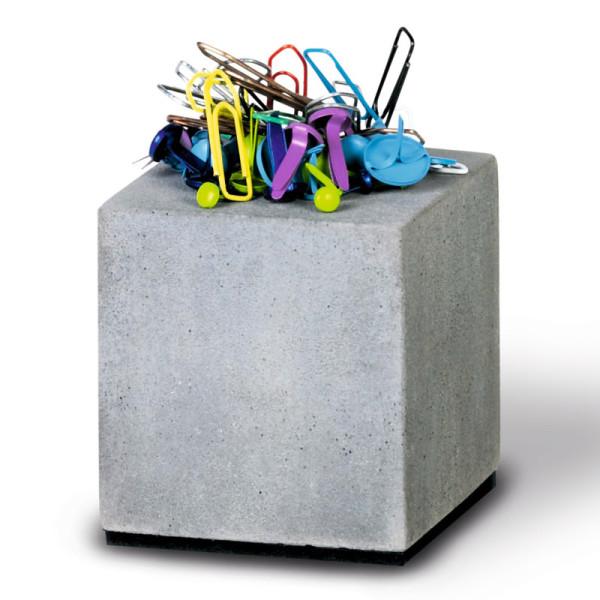 Büroklammernhalter / Magnetischer Block aus Beton