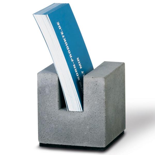 korn produkte businesskartenhalter block aus beton. Black Bedroom Furniture Sets. Home Design Ideas