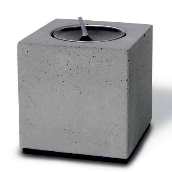 Teelichthalter Block aus Beton