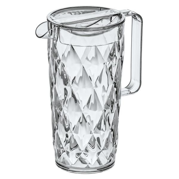 Transparente Kanne Crystal 1,6 Liter mit Facettenschliff von Koziol.