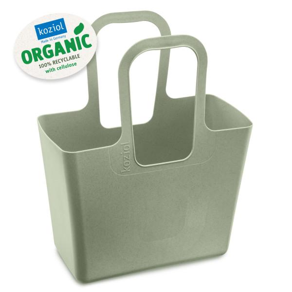 Ein echter Alleskönner und praktisch im Alltag: die grüne Tasche XL ORGANIC von Koziol Design! Einkaufskorb, Einkaufstasche, Shopper, Strandtasche ... Kunststoff.