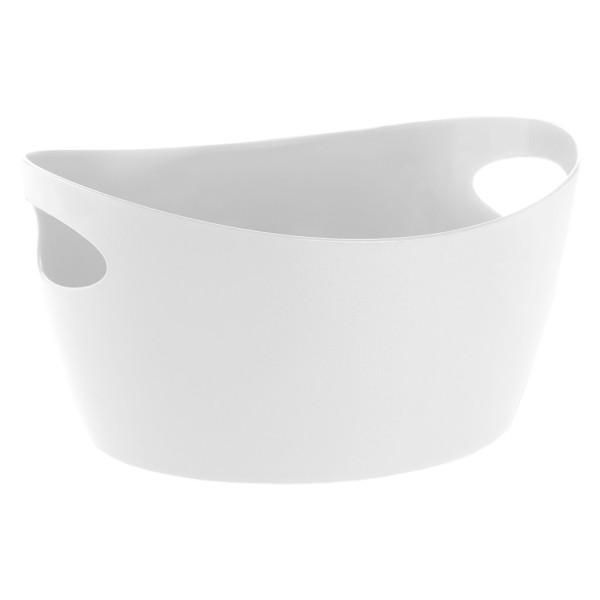 Zuber Korb mit Tragegriffen - cotton weiß / Utensilo BOTTICHELLI L aus Kunststoff von Koziol Design. Aufbewahrungskorb, Aufbewahrungsbehälter, Korb ...