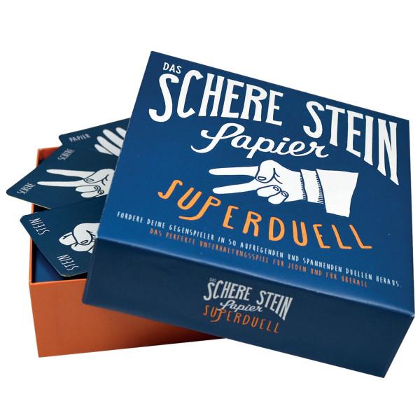 Schere, Stein, Papier Superduell - Kartenspiel Version