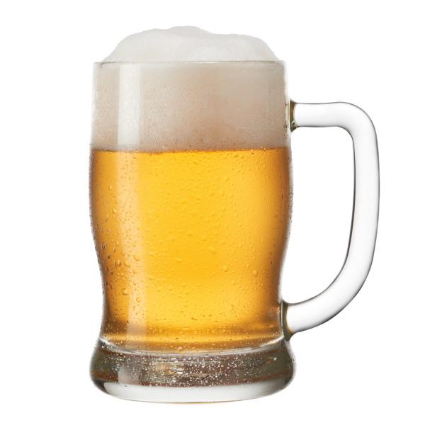 Bierseidel / Bierkrug TAVERNA von LEONARDO Design. Bierglas mit Henkel und 0,5 L Volumen.